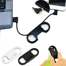 3in1 Bottle Opener Keychain Data Cable USB Charging Cord for Smart Phone