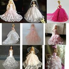 Doll Wedding Dress Party Gown Clothes Outfits For Barbie Doll Dress Up Accessory