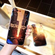 Luxury Glossy Sunset Dusk Mordern City Soft Case Cover for iPhone 8 8 Plus 6 6S