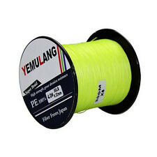 Fluorescent Yellow Green Fishing Line 100M 300M 500M 1000M PE Dyneema Braid