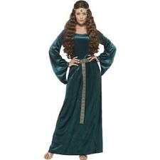 Ladies Medieval Maiden Tales of Old England Green Dress Fancy Dress Costume