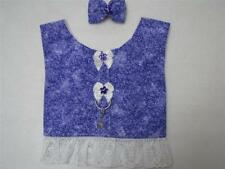 Purple Delicate Floral S Lace Dog Harness Vest Hair Bow Charm Yorkie Maltese