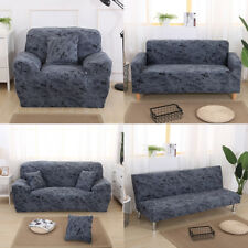 1/2/3 Seater Comfortable Stretch Elastic Sofa Couch Slip Cover Dark Grey
