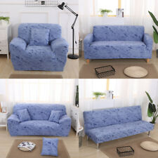 1/2/3 Seater Soft Comfortable Stretch Elastic Sofa Couch Slip Cover, Blue
