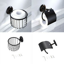 Mounting Black Copper with Pattern Toilet Tissue Roll Basket Paper Holder