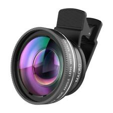2 in 1 Camera Lens Kit, 0.45X Wide Angle Lens + 12.5X Macro Lens with Clip