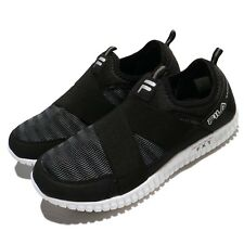Fila F909R FXT Strap Black White Women Casual Shoes Sneakers Trainers Slip-On