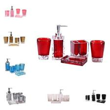 5 Pcs Bathroom Accessory Set Tumbler And Toothbrush Holder Home Decor
