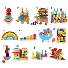 Kids Educational Toys Wooden Puzzle/ Blocks/ Balance Game Montessori Toys Gift