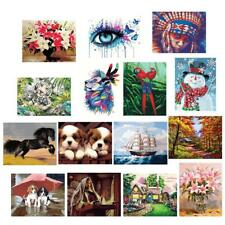 Acrylic Paint By Number Kit Horse Painting On Canvas 16X20'' Home Wall Decor
