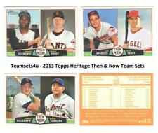 2013 Topps Heritage Then & Now Baseball Set ** Pick Your Team **