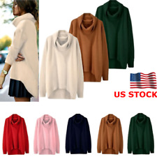Women Knitted Long Sleeve Loose Jumper Ladies Pullover Tops Sweater Coat Outwear