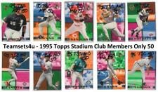 1995 Topps Stadium Club Members Only 50 Baseball Set ** Pick Your Team **