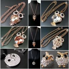 Necklace Chains Necklace Owl Owl Necklace Earrings Gold Rosé Silver Jewelry KV11