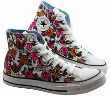 Converse Chuck Taylor CT Hi White Canvas Womens Unisex Trainers 141806F M5