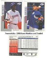 1998 Score Rookies and Traded Baseball Set ** Pick Your Team **