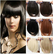 Lady  Straight Synthetic Hair Fringe Bang Hairpiece Clip-In Front Hair Extension