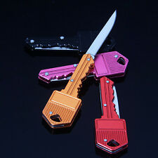 Mini Pocket Key Folding Knife Blade Outdoor Survival Hunting Tool Cute Gift GO