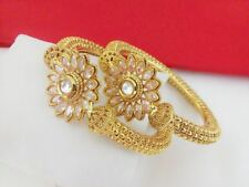 Indian fashion jewelry Bangle Bollywood Ethnic  traditional gold plated Bangles