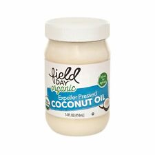 Field Day Organic Expeller Pressed Coconut Oil - Coconut Oil - Case of 6 - 14 oz