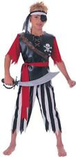 Boys Pirate King Fancy Dress Costume - all sizes