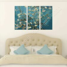 READY TO HANG CANVAS Almond Blossom Vincent Van Gogh 3 Panels For Home Decor