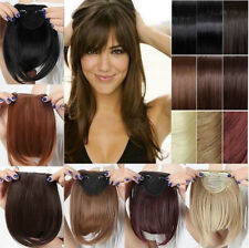 Real Thick Straight Bang Clip in on Fringe Hair Extensions Humans Hairpiece Sexy