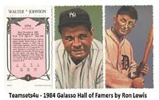 1984 Galasso Hall of Famers By Ron Lewis Baseball Set ** Pick Your Team **
