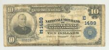 $10 1902 Plain Back National Banknote from Baltimore, MD #1489