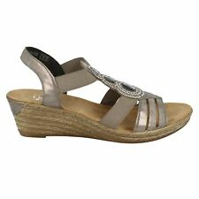 Rieker 62456-40 Grey Womens Heel Sandals