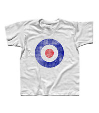T-SHIRT baby TARGET blue MODS VESPA LAMBRETTA the Who Pete Townsend vintage