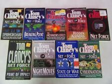 BIG Lot of (9) TOM CLANCY War Military Books NET FORCE SERIES Archimedes Effect