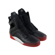 Radii Prism Mens Black Leather High Top Lace Up Sneakers Shoes