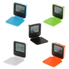 Foldable Alarm Clock Portable Travel Tabletop LED Digital Alarm w/ Snooze