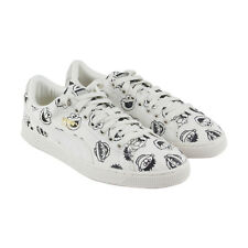 Puma X Sesame Street Basket Mens White Canvas Lace Up Sneakers Shoes