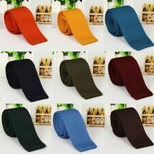 18 Colors Men Knit Knitted Tie Necktie Narrow Slim Skinny Solid Casual Woven Tie