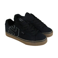 Etnies Fader Vulc Mens Black Canvas Lace Up Skate Shoes