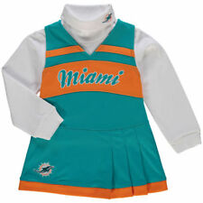 Miami Dolphins Girls Preschool Aqua/Orange Cheer Jumper Dress Set