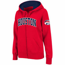 Stadium Athletic Houston Cougars Women's Red Arched Name Full-Zip Hoodie