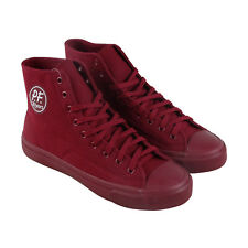 Pf Flyers American Hi Mono Mens Red Canvas High Top Lace Up Sneakers Shoes