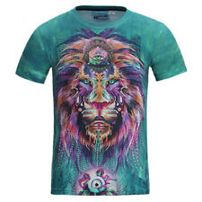 2018 Casual T-Shirt Totem lion Women's/Men's 3D Print Graphic Tee Short Sleeve