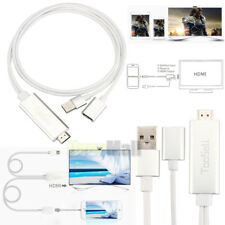 Mini USB MHL To HDMI 1080P TV Adapter Cable HD For Samsung Galaxy S6 S7 iPhone 8