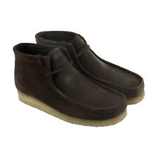 Bostonian Wallabee Boot Mens Brown Suede Casual Dress Lace Up Chukkas Shoes