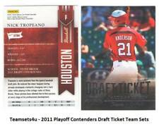 2011 Playoff Contenders (Draft Ticket) Baseball Set ** Pick Your Team **