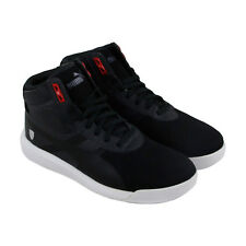 Puma Podio Td Mid Sf Mens Black Leather & Textile High Top Sneakers Shoes 7.5