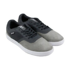 Supra Saint Mens Gray suede & Mesh Sneakers Lace Up Skate Shoes