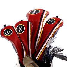 Golf Wood Cover Set Driver Fairway Rescue Headcover For TaylorMade TITLEIST New