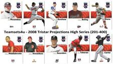 2008 Tristar Projections High Series (201-400) Baseball Set ** Pick your Team **