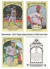2011 Topps Gypsy Queen (1-350) Baseball Set ** Pick Your Team **