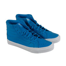 Vans Sk8 Hi Slim Mens Blue Canvas High Top Lace Up Sneakers Shoes
